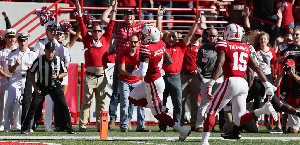 Nebraska quarterback Tommy Armstrong Jr. scores a touchdown against Purdue after the boilmakers turned the ball over in their own territory at Memorial Stadium in Lincoln Saturday.