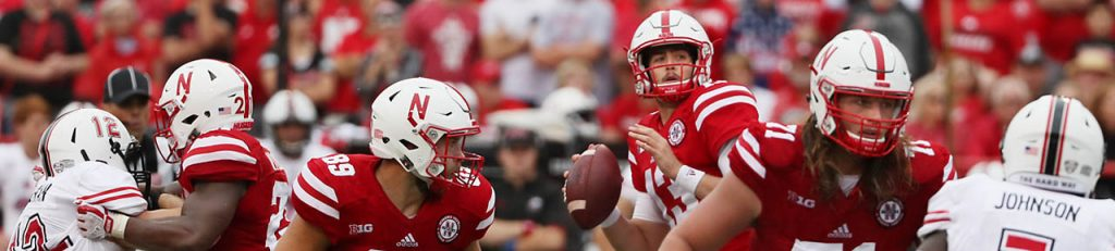 Nebraska quarterback Tanner Lee prepares to pass against Northern Illinois.