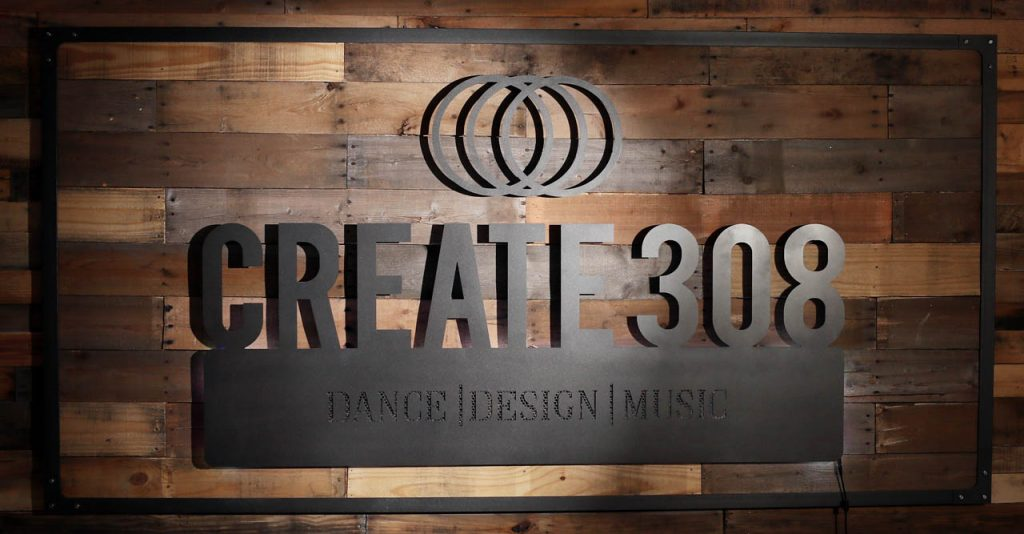 The Create 308 sign.